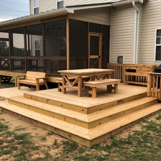 Custom Cedar Porch And Deck Installed On NC150 W In Greensboro, NC